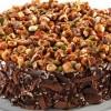 Badem Krokanlı Çikolatalı Kek