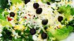Peynirli Yumurtalı Karışık Salata