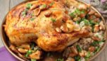 Ispanaklı Mantar Dolgulu Tavuk