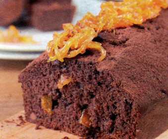 Portakal Reçelli ve Çikolatalı Kek
