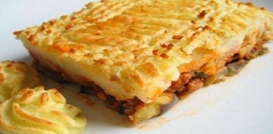 Fırında Patates Püreli Kebap