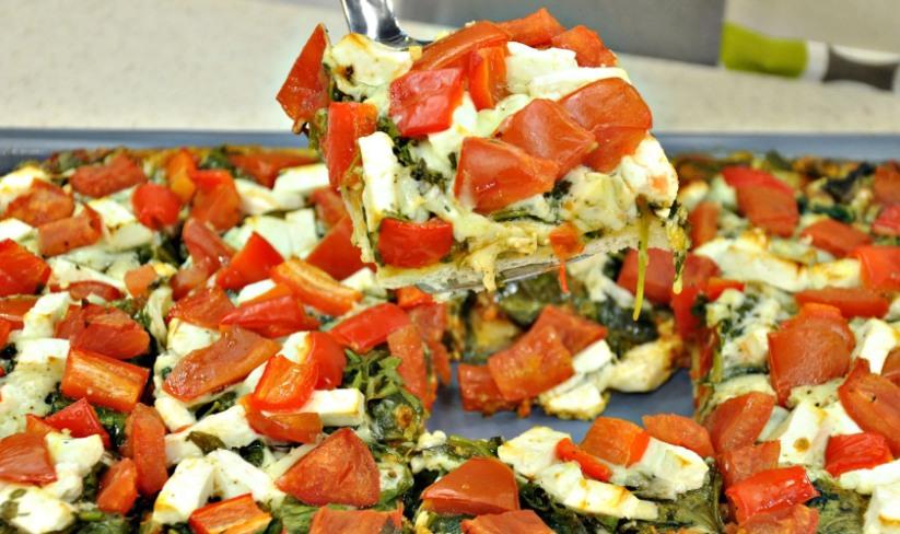 Ispanaklı Beyaz Peynirli Pizza