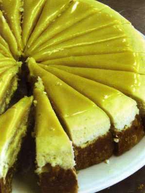 Beyaz Çikolatalı Baked Cheesecake