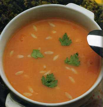 domatesli pirinç çorba