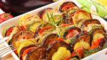 Fırında Kaşarlı Karışık Sebzeler