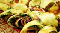 Salamlı Peynirli Krep Sarma