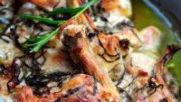 Tarhunlu Kremalı Fırında Tavuk