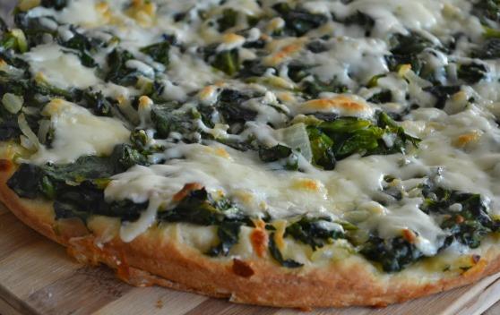 ıspanaklı pizza