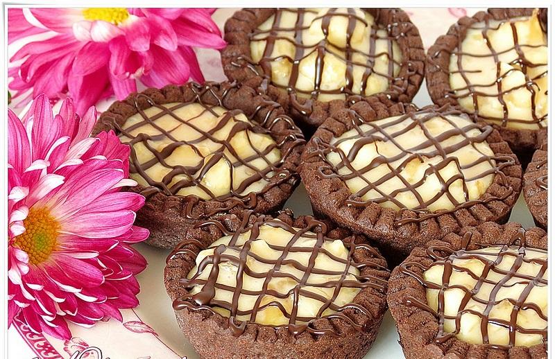 kakaolu mini tartlar