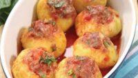 Fırında Etli Patates Dolması