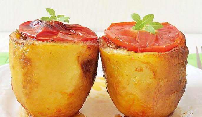 Fırında Etli Patates Dolması Tarifi
