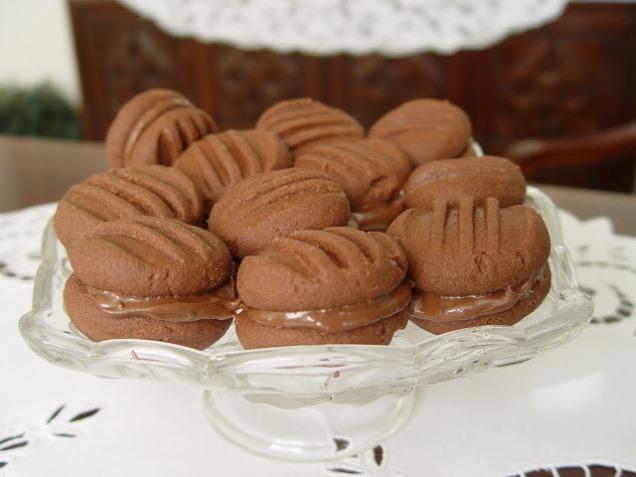 Kakaolu Fındık Kremalı Kurabiye