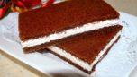 Kremalı ve Elmalı Çikolatalı Kek Dilimleri