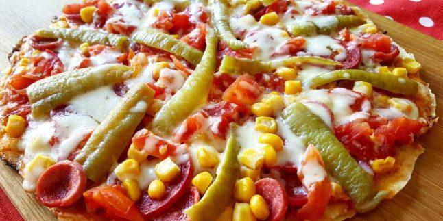 Hazır Yufkadan Tavada Pizza Yapımı