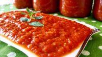 Kışlık Közlenmiş Patlıcanlı Biberli Domates Sosu Tarifi